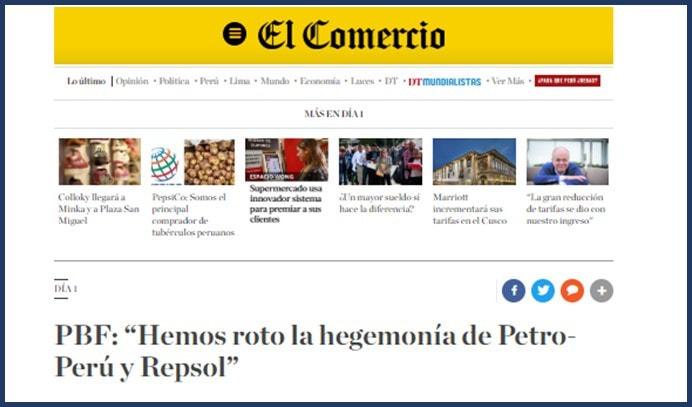 437a4da94538 Valero Energy Ingresa al Peru - Educación en Ingeniería Química